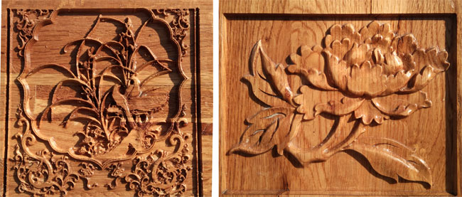 حکاکی و ایجاد نقش برجسته روی چوب